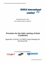BP35: Provisions for the Safe Lashing of Deck Containers