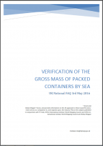Verification of the gross mass of packed containers by sea - UK National FAQ